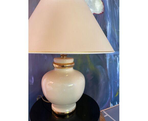 Lampe en céramique craquelée Le Dauphin vintage