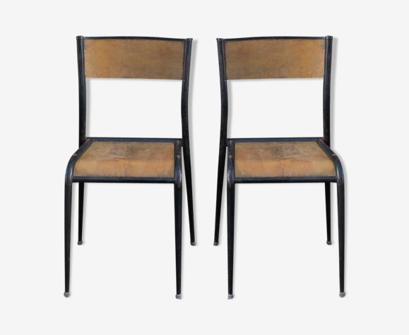 Paire de chaises Mullca