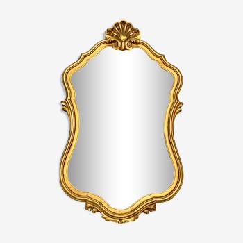 Miroir cadre doré coquille arabesque volute style baroque vintage 50x80cm
