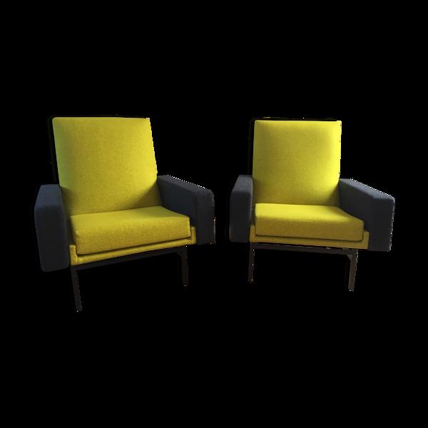 Paire de fauteuils ARP de Steiner modèle 645 années 1950