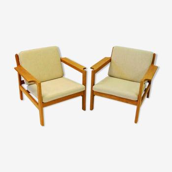 Paire de fauteuils danois en teck mod 227 de Børge Mogensen des années 1960