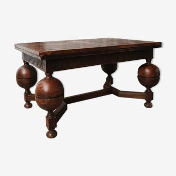 Table de style louis XIII en chene