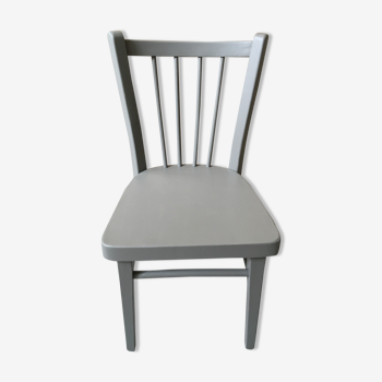 Chaise bistrot enfant taupe cendré
