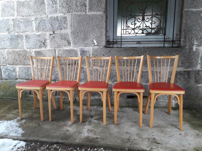 Lot de 5 chaises bistrot Baumann n°12