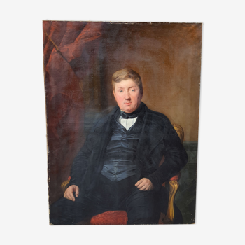 Portrait à l'huile P.Lariviere 1846 - 130 cm