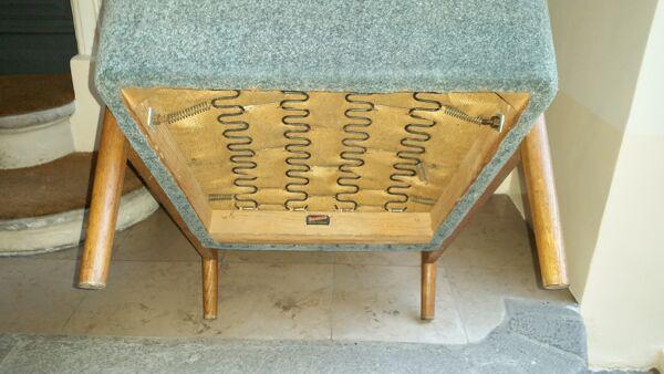 Fauteuil scandinave easy chair Suedois de Folke Ohlsson pour DUX  DUXELLO vintage années 50 60