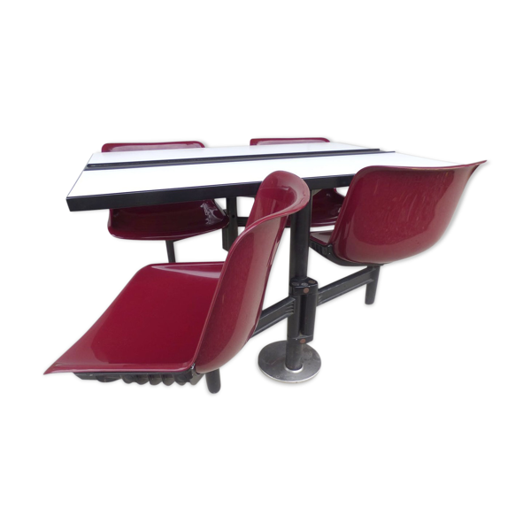 Selency Table avec chaises incorporées par Osvaldo Borsani