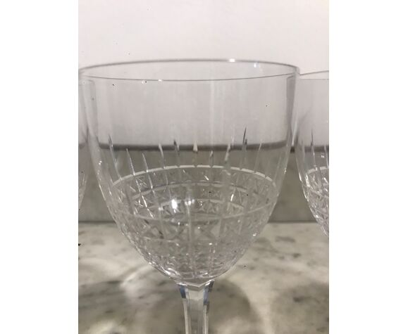 5 verres cristal Saint Louis