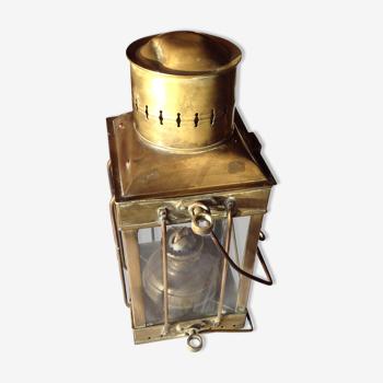 Lampe de bateau ancienne Neptune, à pétrole