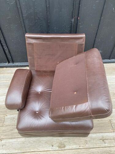 Fauteuil cuir 1970