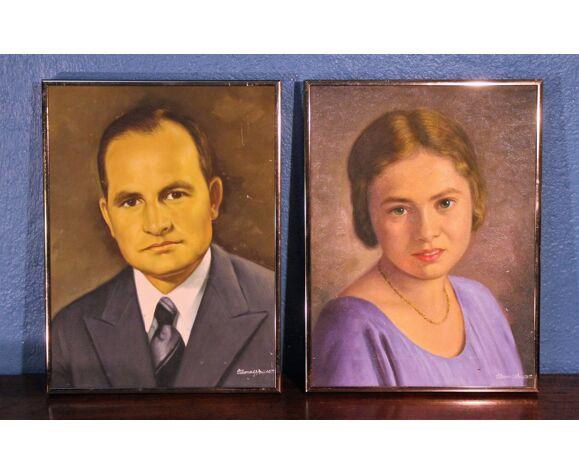 "Portraits ""Mr & Mme"" 1950s"