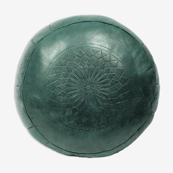 Handmade green Fes fes ottoman 40 X 25 cm