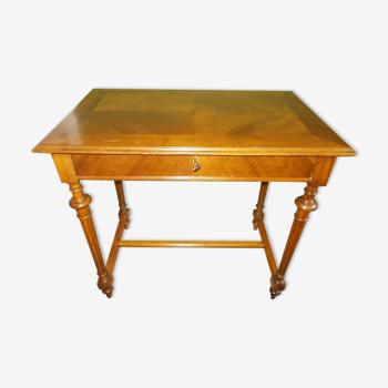 Table bureau en noyer