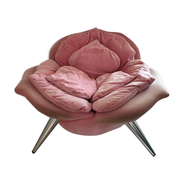 Selency Fauteuil rose chair