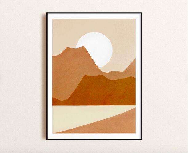Art print Mountain view A3