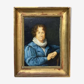 École Française vers 1880  huile sur toile figurant un personnage notable historique (E)
