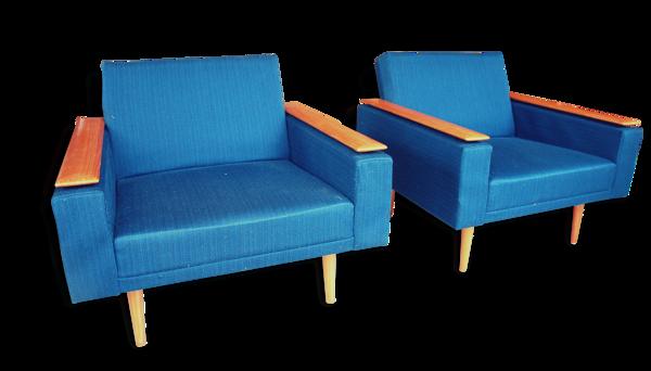 Paire de fauteuils Allemand 1960, COR design.