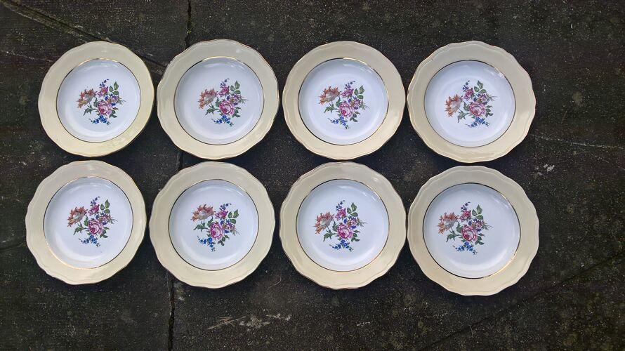 Set de 8 assiettes creuses L'Amandinoise