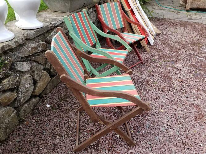 3 fauteuils pliables