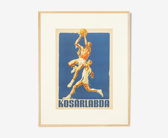 Affiche de sport championnat d'europe de basket 1955