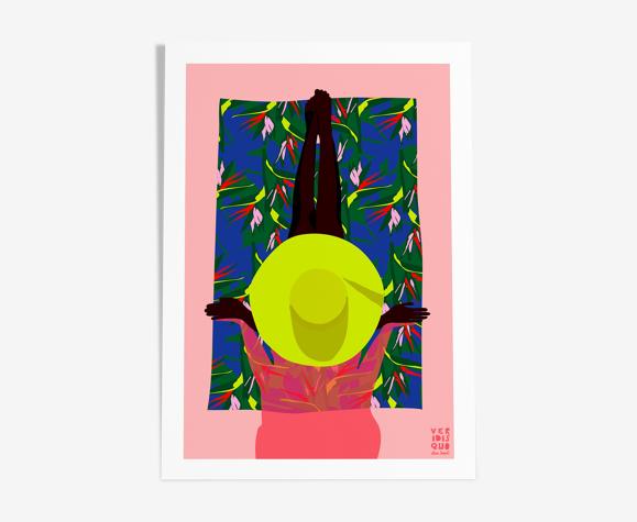 Bird of paradise - illustration en édition limitée, format a4 (veridis quo, elisa brouet)