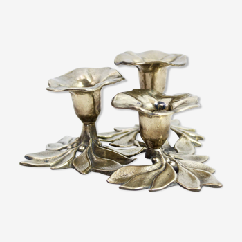 Bougeoir Art Nouveau en laiton