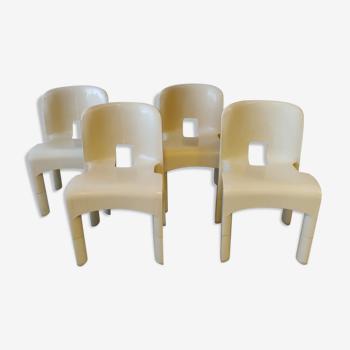 Ensemble de 4 chaises Universale 860 et 861 par Joe Colombo pour Kartell