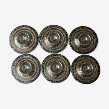 Set de 6 coquetiers en acier inoxydable, fabriqués par WMF