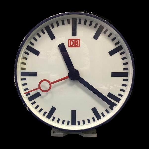Horloge de gare industrielle double face rétro éclairée  DB