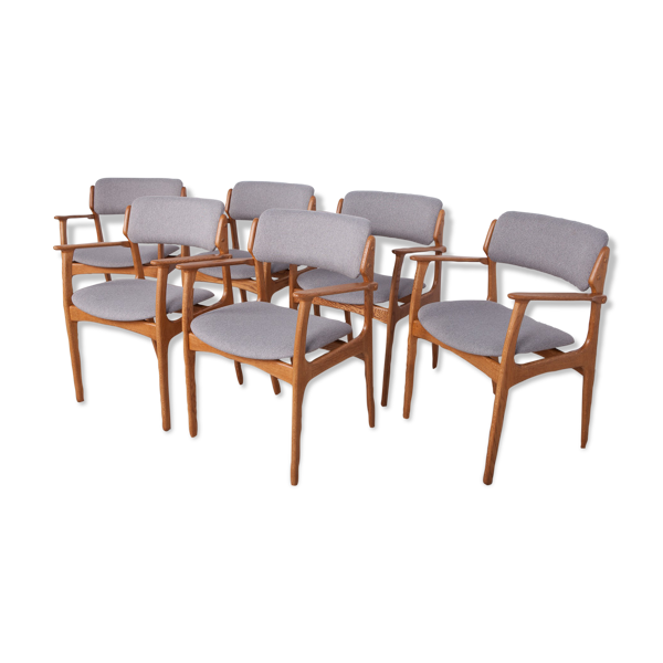 Set de 6 chaises Model 49  par Erik Buch pour O.D. Mobler années 1960