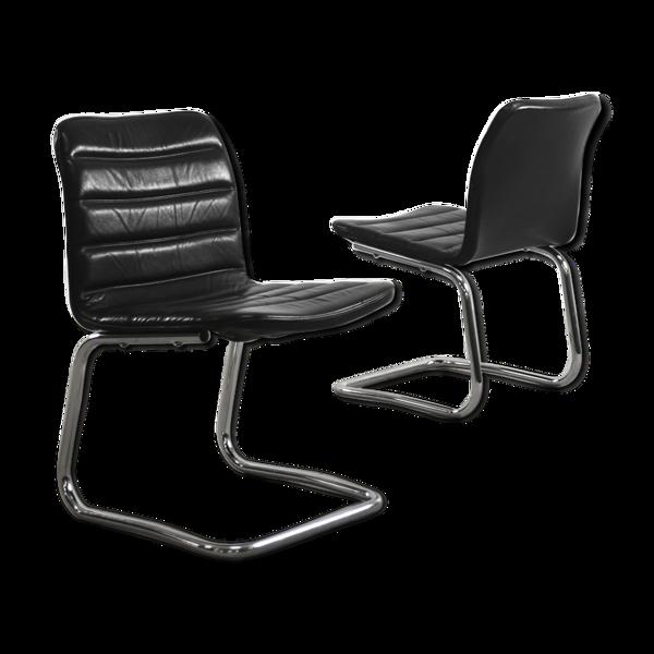 Paire de chaises allemandes par Pol International, années 1960