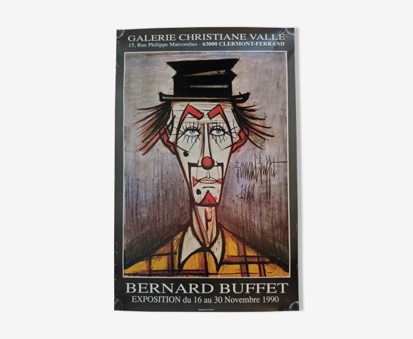 Affiche de Bernard Buffet à la galerie Christiane Vallé 1990