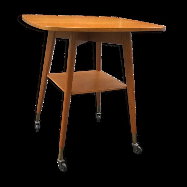 Table plateau pivotant années 50
