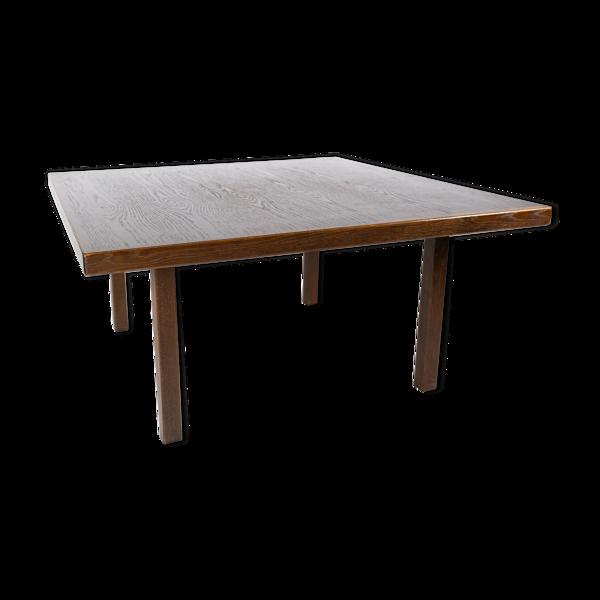 Table basse en chêne foncé de design danois des années 1960
