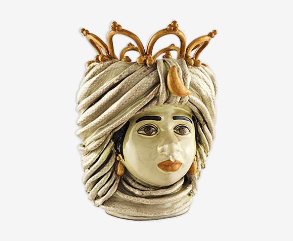 Vase couronne beige femme