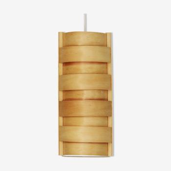 Pine veneer pendant light by Panduro. Denmark 1960s