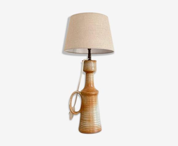 Lampe en céramique et coton beige