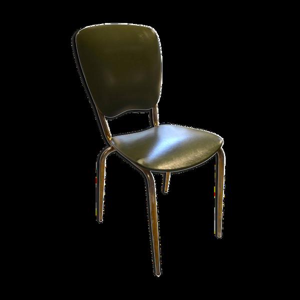 Selency Chaise italienne, années 60, en skai vert