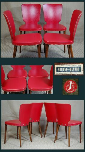 4 chaises Horgen-Glaris Suisse années 60