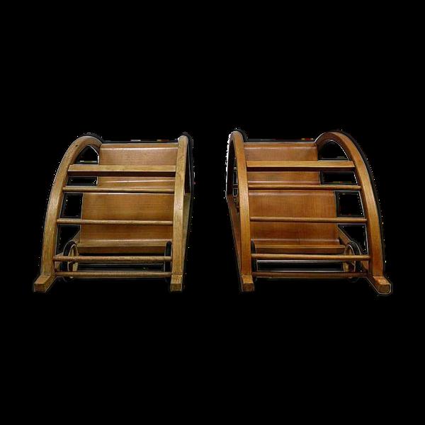 Lot de 2 chaise berçeuses