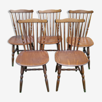 Ensemble de 5 chaises bistrot Baumann