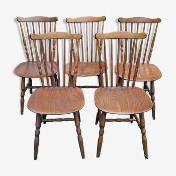 Set of 5 chairs bistro Baumann