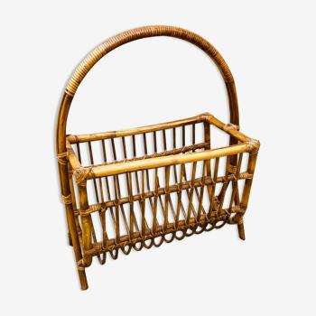 Porte revue en bambou