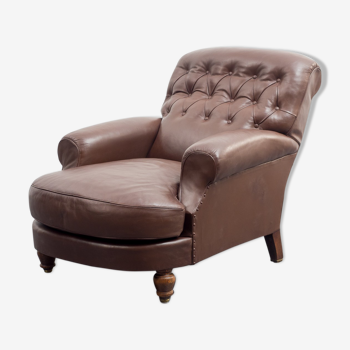 Leather lounge chair, vintage