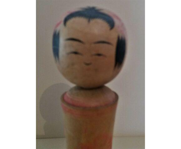 Kokeshi Japanese naruko doll signed