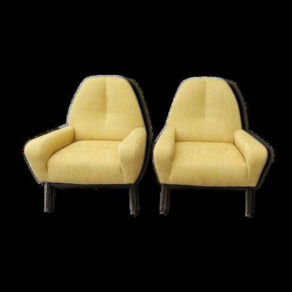 Selency Paire de fauteuils vintage années 60