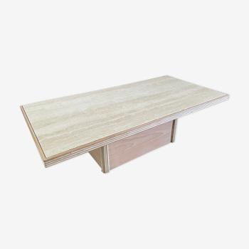 Table basse travertin 1980