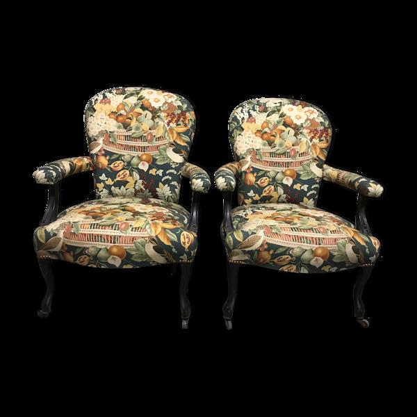 Paire de fauteuils cabriolets époque Napoléon III
