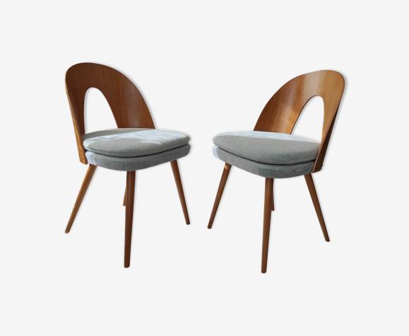 Série de 2 chaises Antonin Suman années 60
