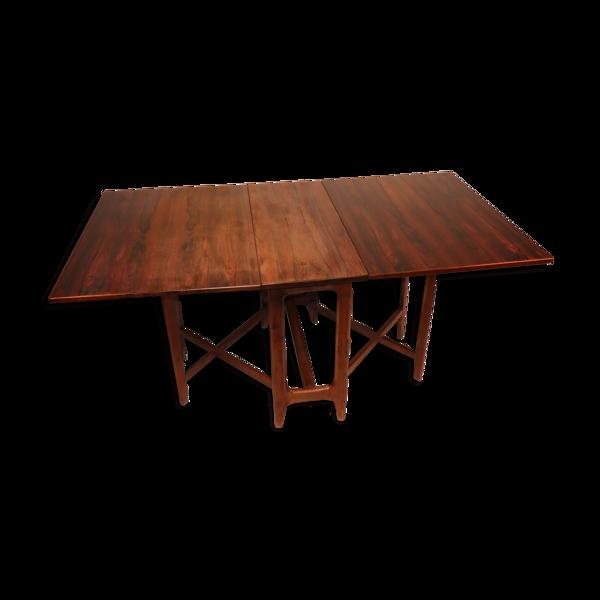 Selency Table extensible scandinave en palissandre de Bendt Winge, 1960